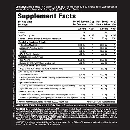 allmax-impact-igniter-fruit-punch-facts